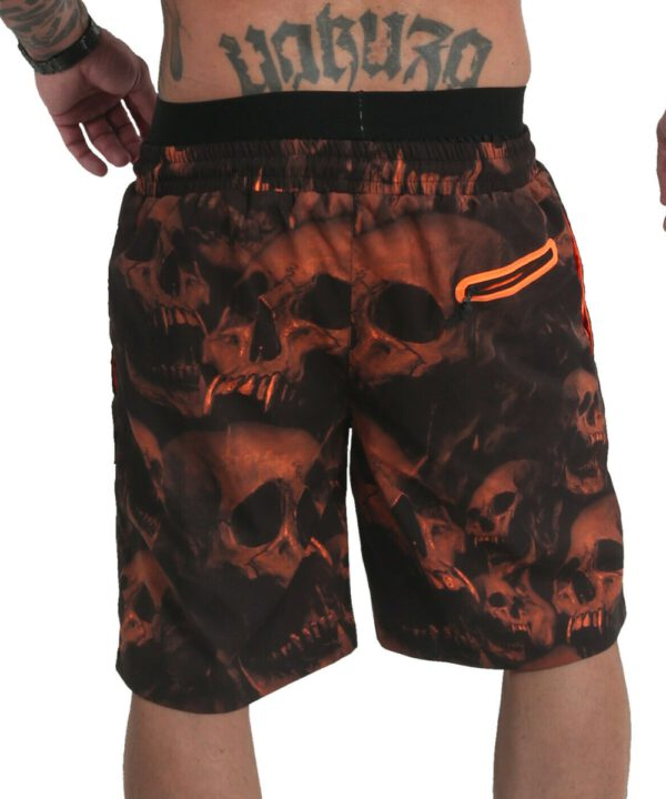 Muerte Skull V02 Flex Badeshorts orange
