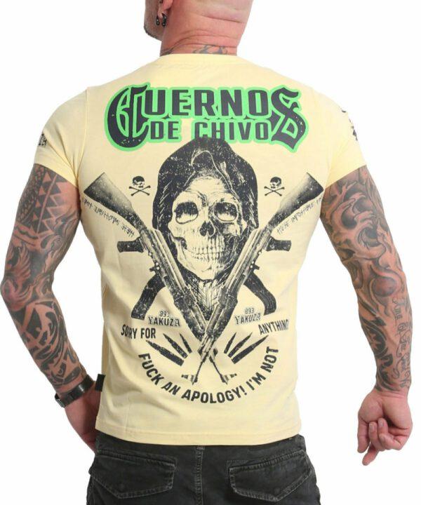 Yakuza Cuernos De Chivo V02 T-Shirt TSB-18049 pale banana