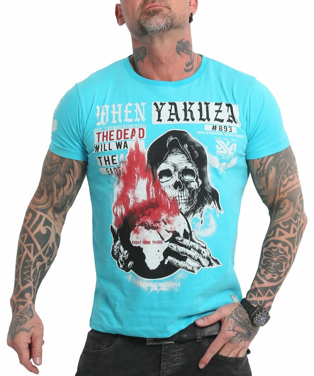 Yakuza Earth T-Shirt blue atoll