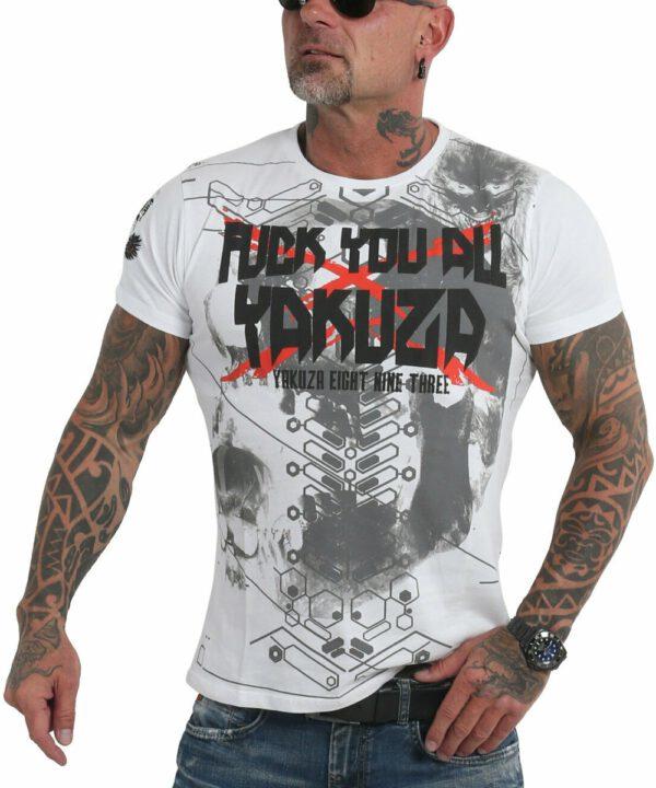Yakuza F.Y.A. T-Shirt TSB-18055 weiß
