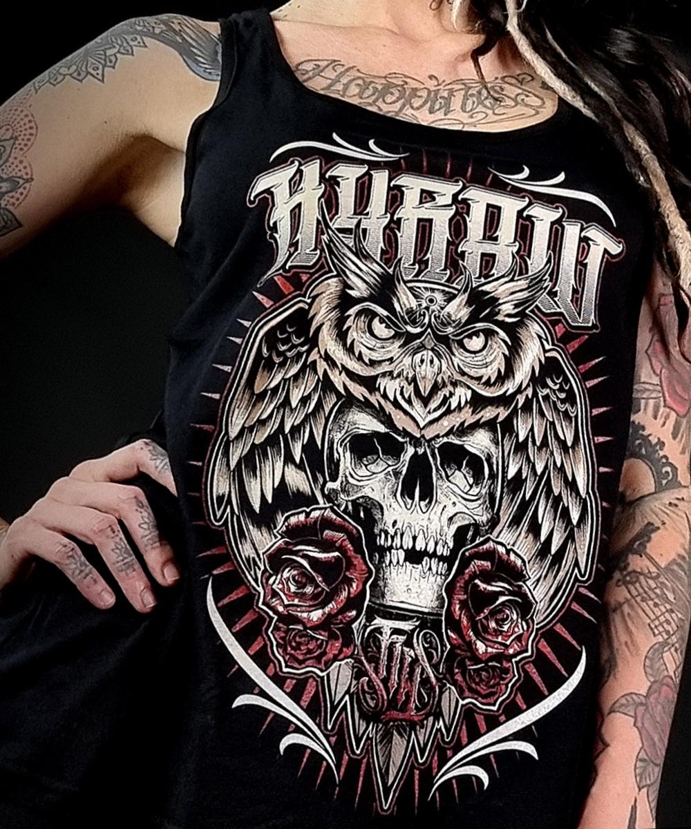 """Hyraw Damen Tank Top """"DEATH OWL"""""""
