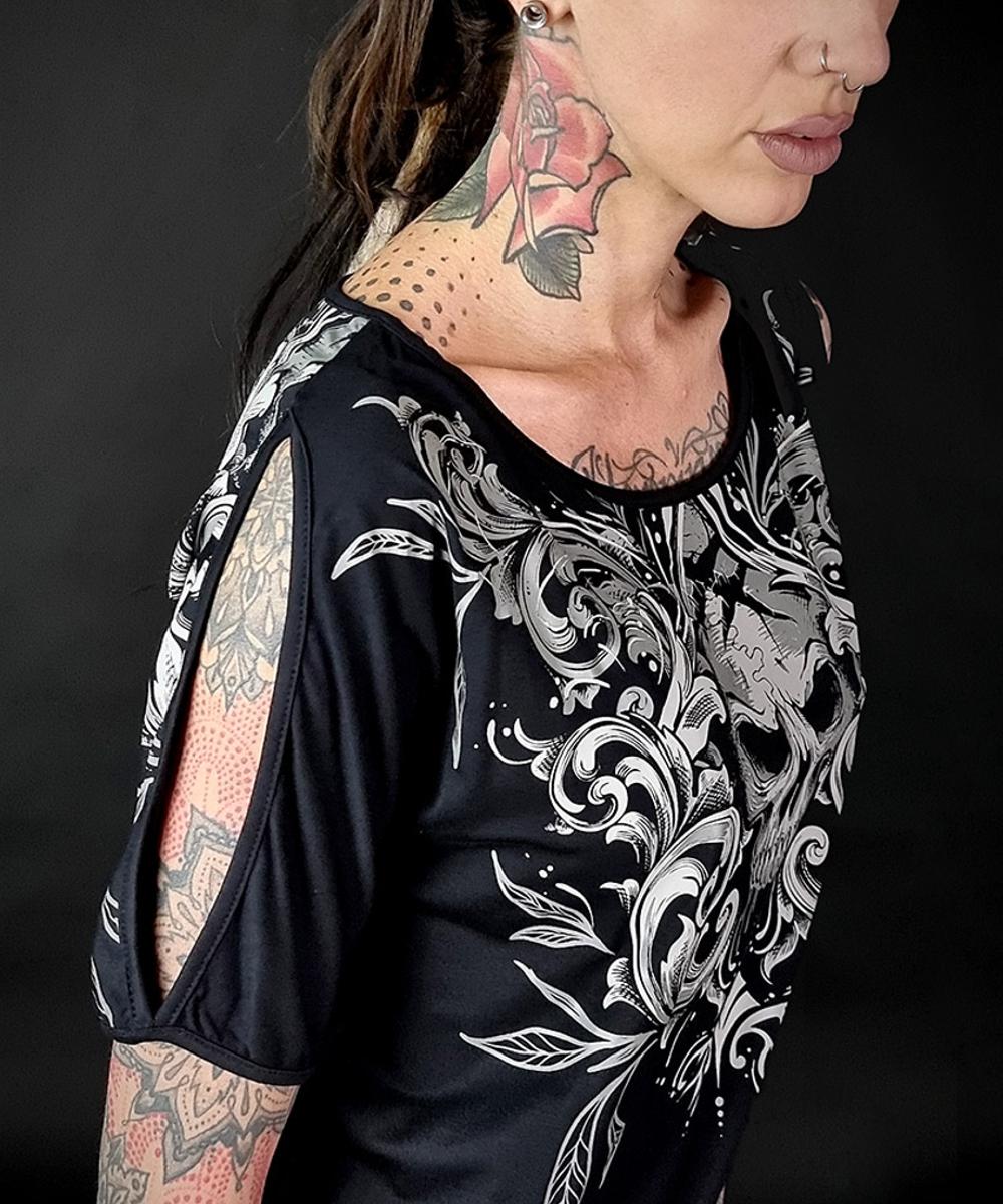 "Hyraw Damen T-Shirt ""NIGHTMARE"" black"