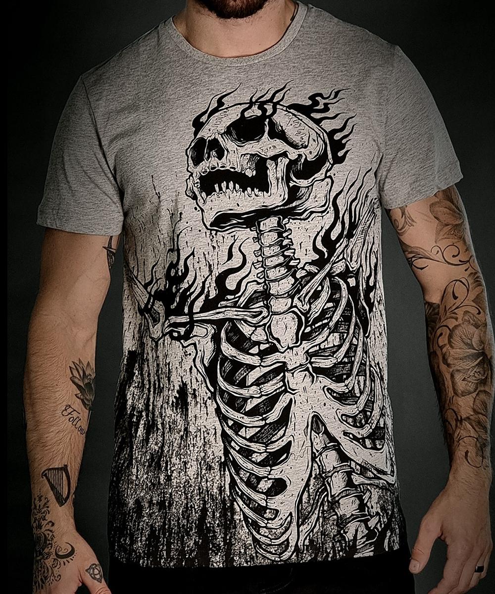 """Hyraw Herren T-Shirt """"BURNING"""""""