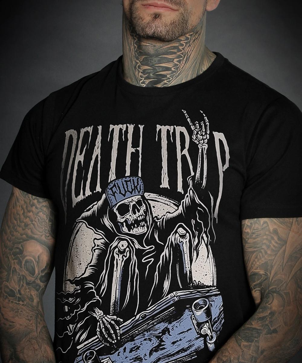 """Hyraw Herren T-Shirt """"DEATH TRIP"""""""