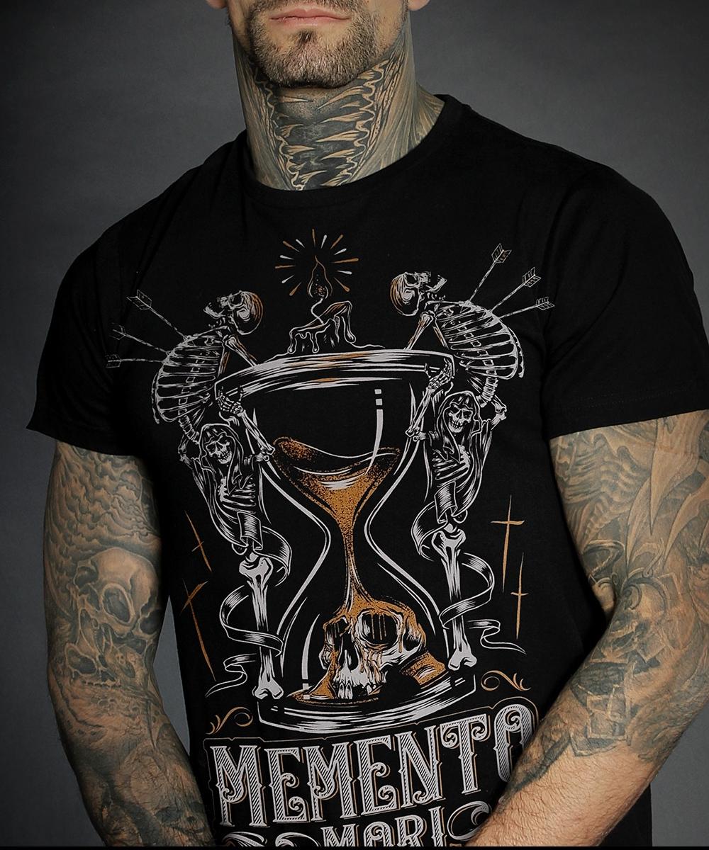"""Hyraw Herren T-Shirt """"MEMENTO"""""""