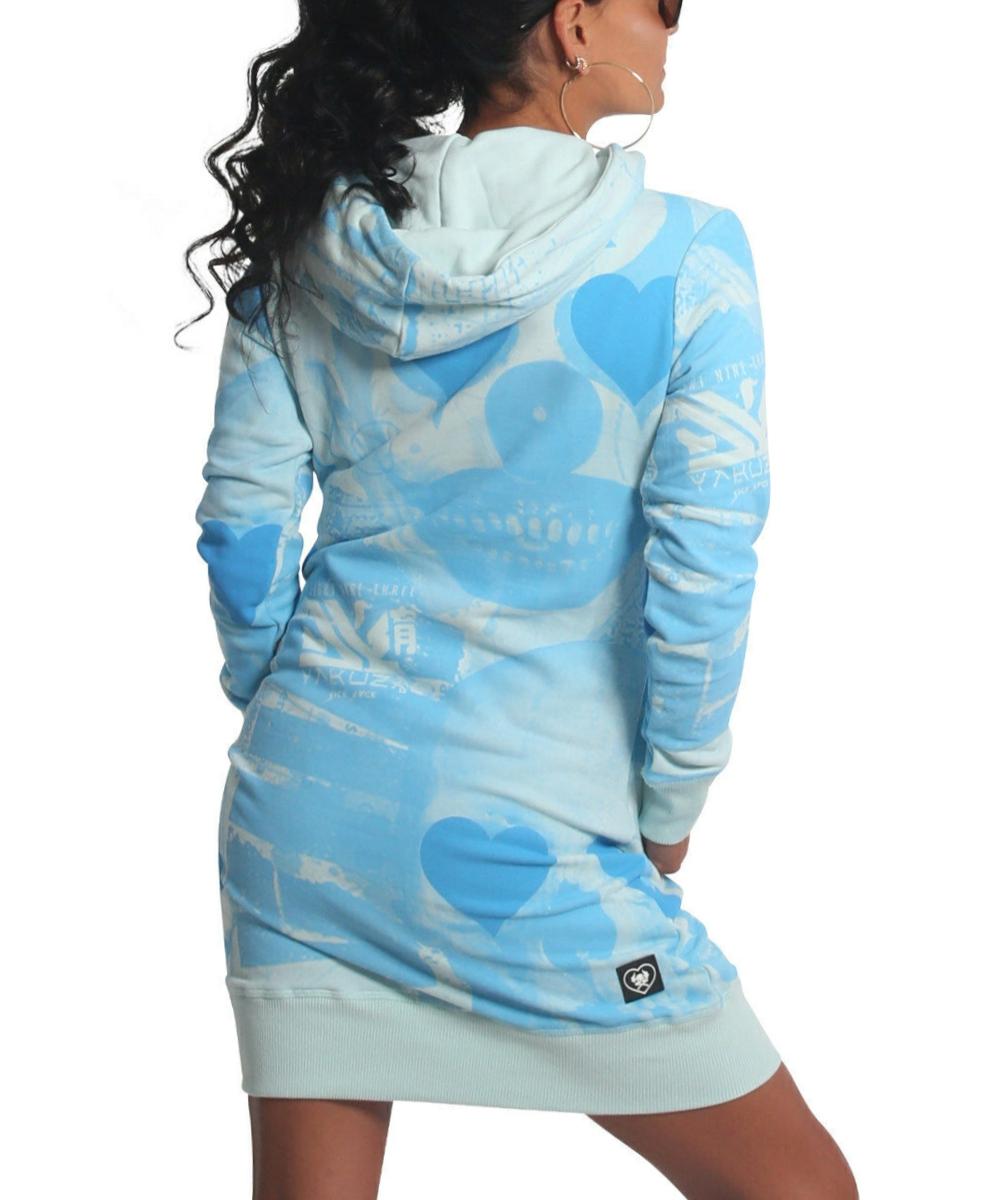Yakuza Heart Horror Hoodie Kleid GKB-18108 pastel blue