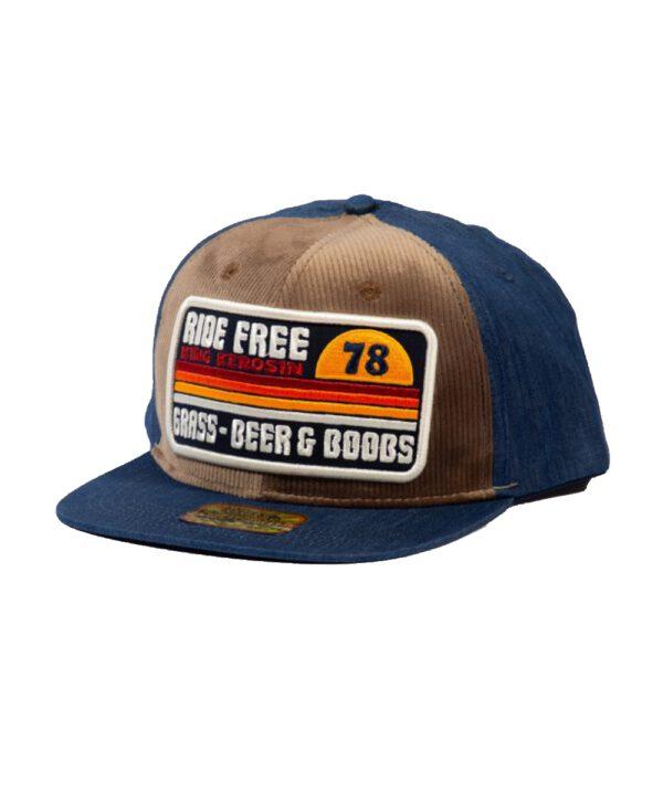 King Kerosin SNAPBACK CAP MIT CORD-FRONT »RIDE FREE«