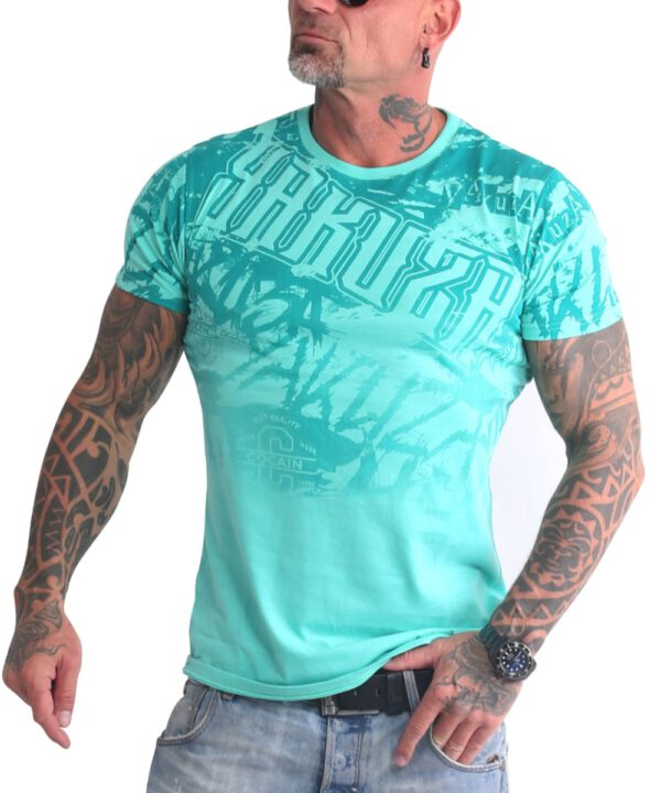 Yakuza Life Allover T-Shirt TSB-19038 turquoise