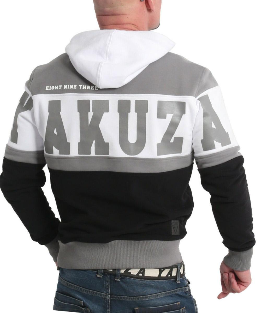 Yakuza Tri Star Hoodie HOB-18003 grey