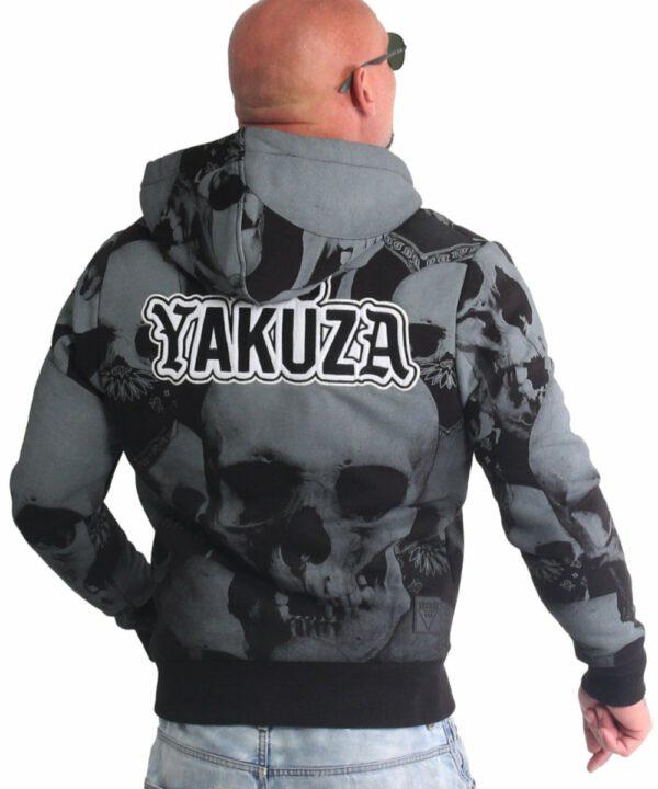 Yakuza Allover Skull Teddy Kapuzenjacke WJB-18067 schwarz