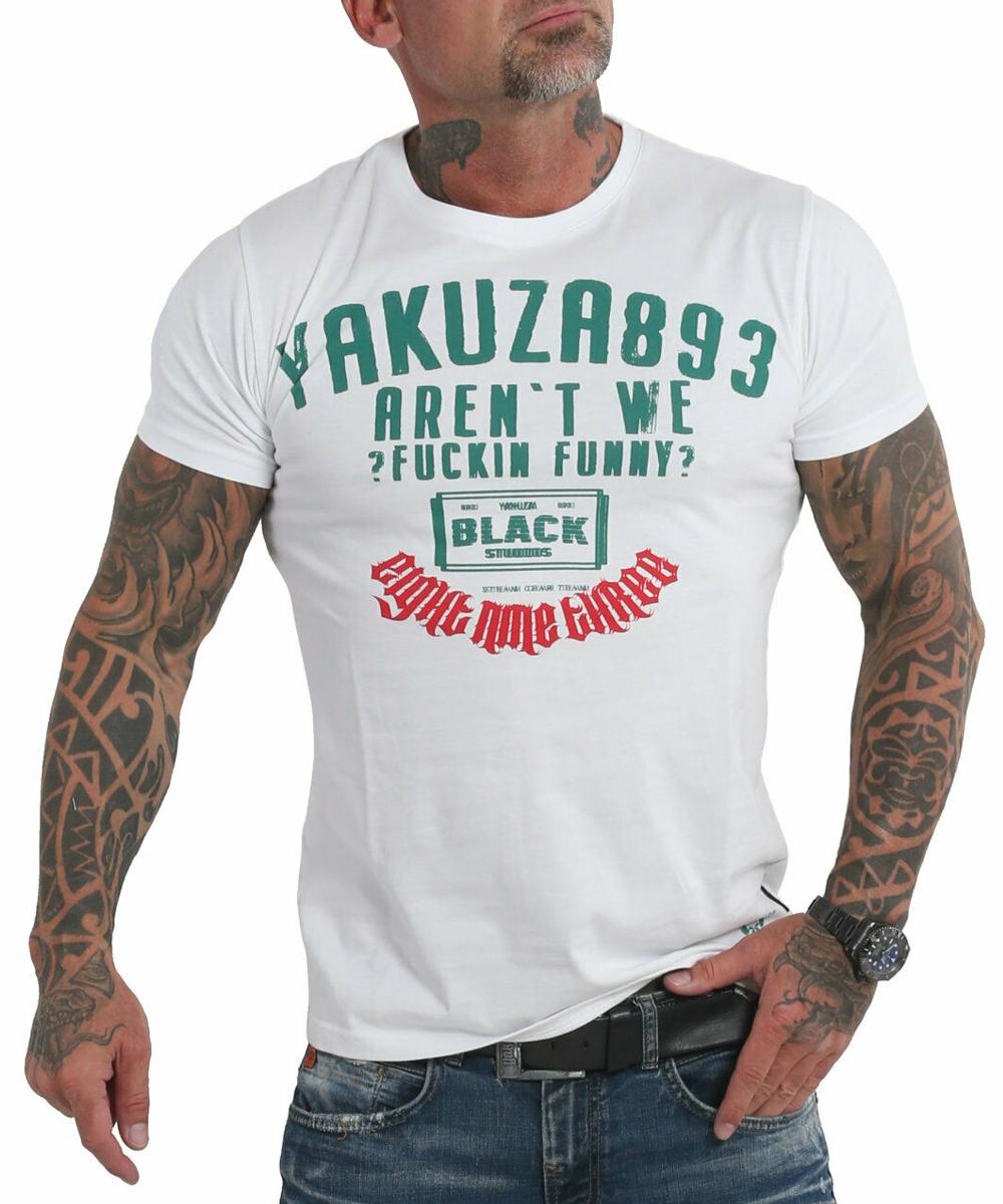 Yakuza Funny Clown T-Shirt TSB-19032 weiß