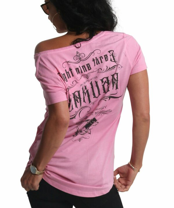 Yakuza Flower Style Dye V-Neck T-Shirt GSB-19121 orchid pink