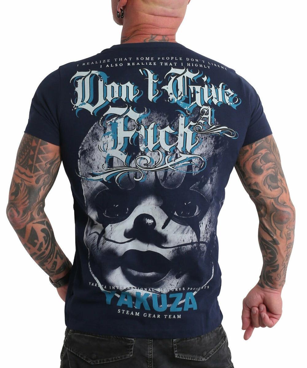 Yakuza Give A Fck T-Shirt TSB-19027 mood indigo